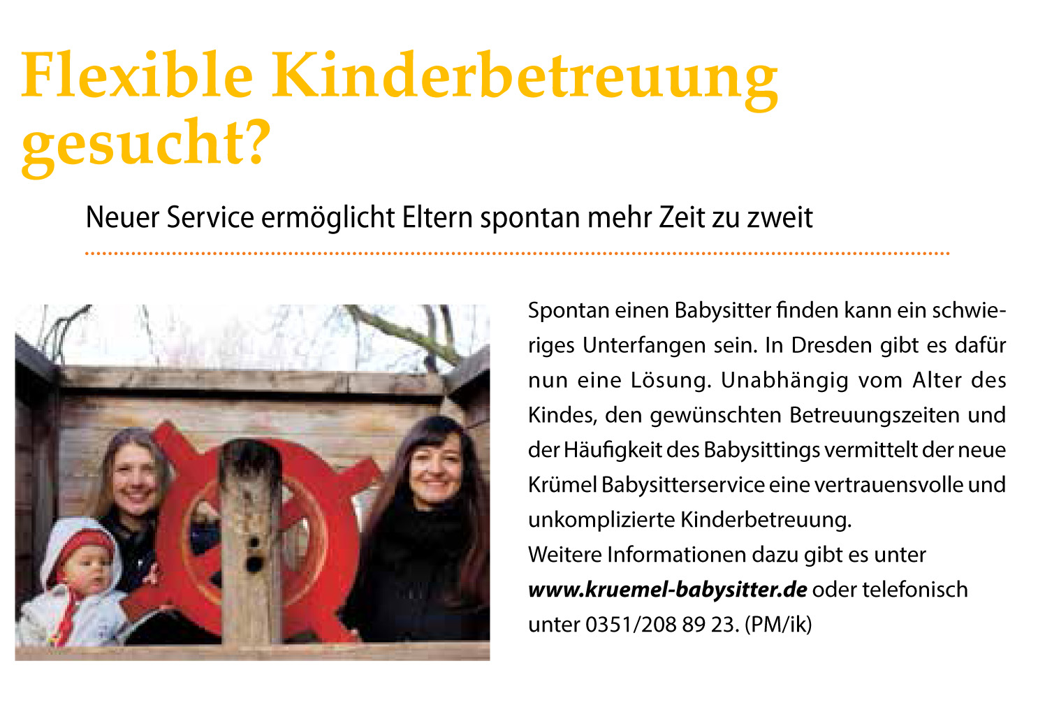 Babysitter Dresden
